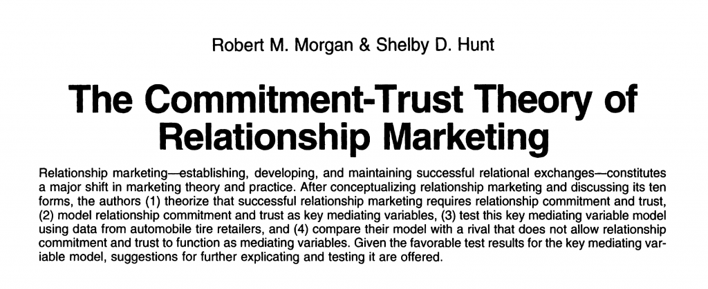 The Commitment-Trust Theory